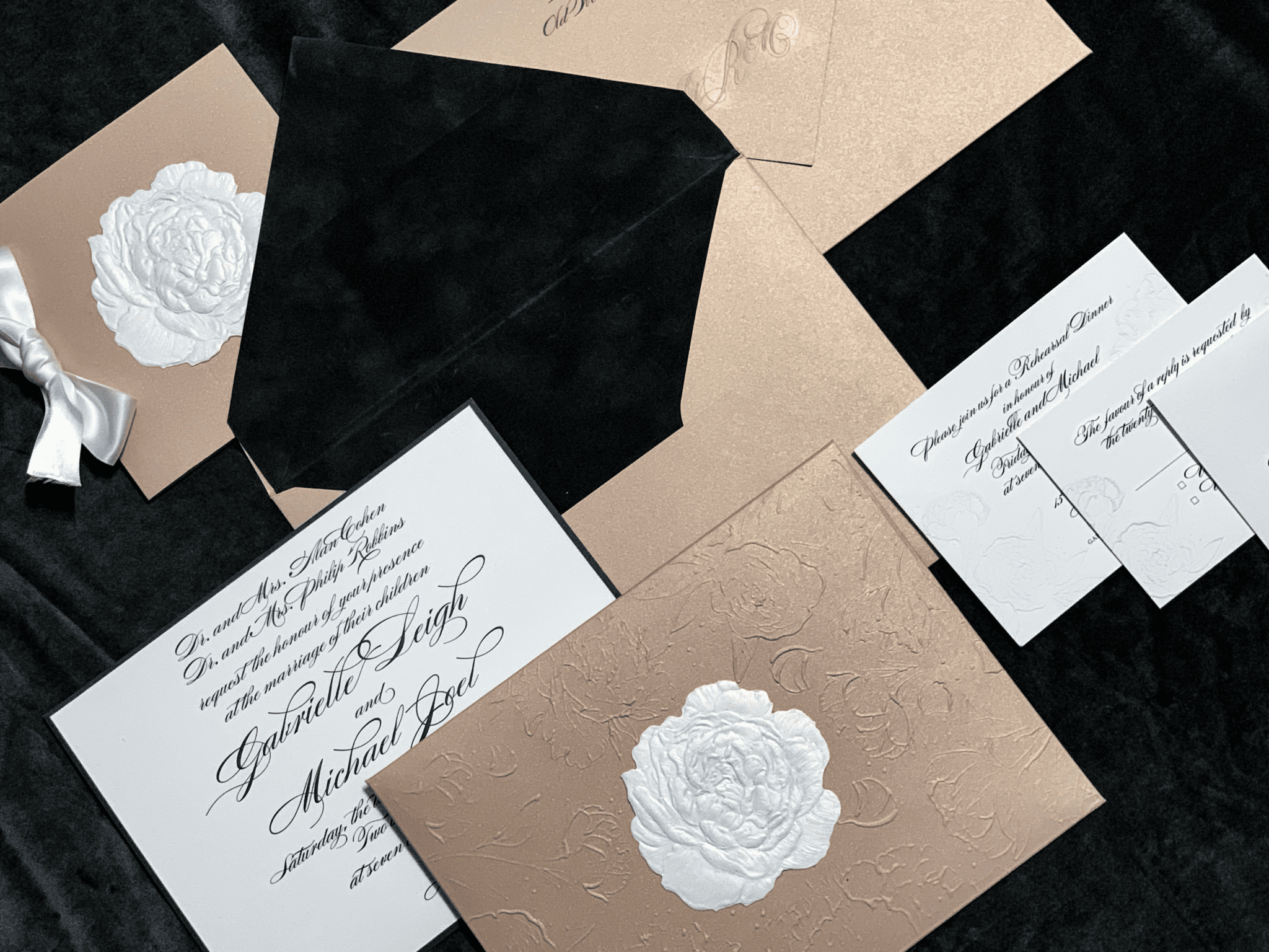 Rose Wedding Invite